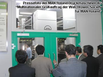 Pressefoto der MAN Roland Druckmaschinen AG