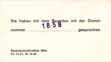 Walter Glöckel - Dienstnummer 1858